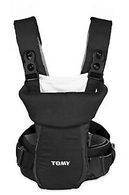 Tomy Freestyle Classic Baby Carrier Infant New Born Child Sling Wrap Black #5424