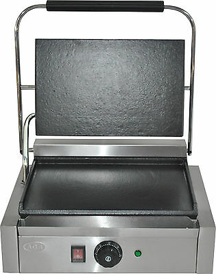 WINTER SPECIAL NEW Single Large Panini Machine, Contact Grill Toaster, flat/flat