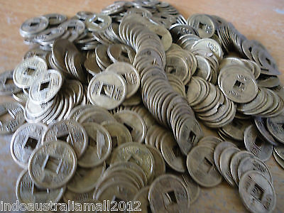100x Chinese Feng Shui Fortune Auspicious Coins/I Ching 14mm(FS-CO24)