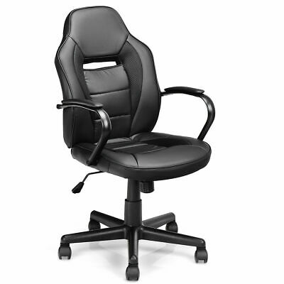 Gaming Chair Mid-Back Office Chair Racing Chair Swivel Desk Task Computer Home