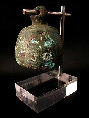 Very Old & Most Rare Ancient Bronze Temple Bells With Acrylic Stand Don't Miss!!