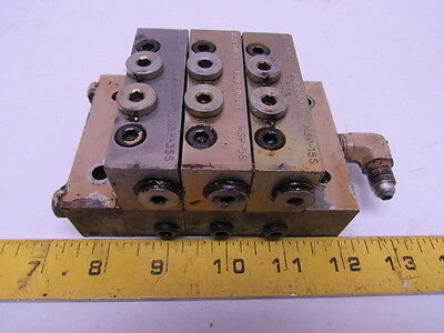 Trabon Lubriquip MSP-5S MSP-15S MSP-35S Modular Divider Valve Assembly 3-Section
