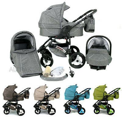 Kombi Kinderwagen Allivio Karex Travel System 3In1 Babywagen Buggy Babyschale