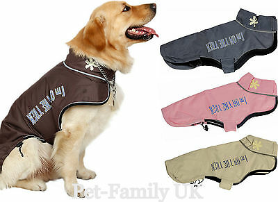 Dog puppy wind/waterproof warm rain coat jacket clothes  Small  to Extra Large