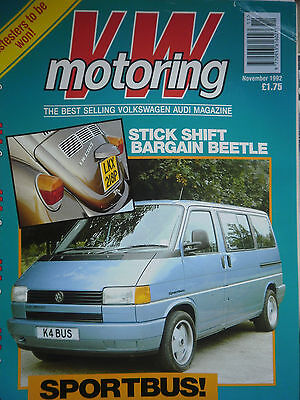 """vw Motoring"" 11/92 All Things V Dub - Golf - Beetle - Polo - Scirocco - Passat"