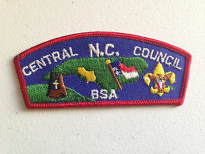 BOY SCOUT BSA CSP COUNCIL PATCH CENTRAL NORTH CAROLINA RED