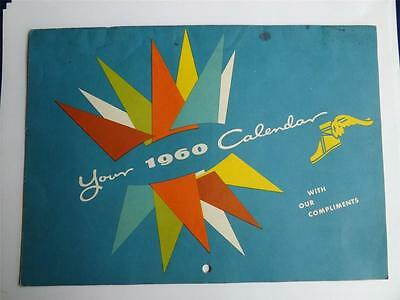 1960 CALENDAR VINTAGE ADVERTISING GOODYEAR TIRES INDUSTRIAL RUBBER PRODUCTS