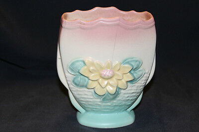 "VINTAGE HULL ART POTTERY VASE WATER LILY L 6 6 1/2"" MADE IN THE USA"