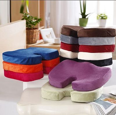 Memory Foam Coccyx Tailbone Seat Cushion Lumbar Posture for Car Seat Office AU