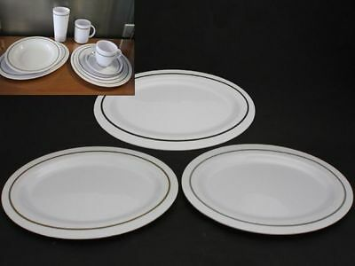 48 x Melamine Plate Pin Line Oval 30cm 3 Assrted Bulk Wholesale lot