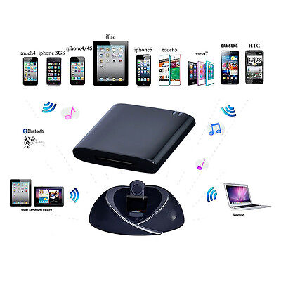 Bluetooth Music Receiver Adapter for iPhone 4 4s iPod Bose Sounddock Series II I