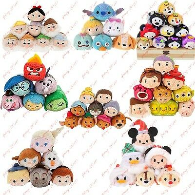 "Mini Tsum Tsum 3.5"" Plush Doll Toy Set Stackable Doll New with Tag"