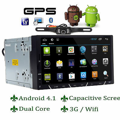 "HD 2DIN 7"" Dual Core Android4.1 3G WIFI GPS Car DVD Player Radio Stereo+Camera"