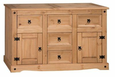 Corona Large Sideboard 2 Door 5 Drawer Solid Mexican Pine by Mercers Furniture®