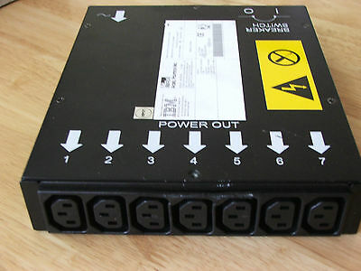 IBM 37L6864, 09N9668 ACBELL API0PD01 100-240 V 7 Outlet Power Distribution Unit