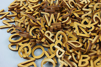 250 + Plain Wooden Small Letter & Digits Adhesive Letters Blank Decoupage (Nf1)