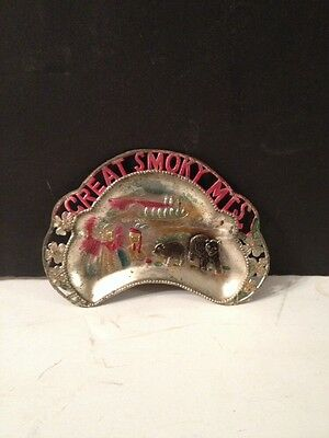 Vintage Great Smoky Mountains Souvenir Dish Made In Japan