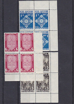 Romania 1936 STAMPS Scouts Club Jamboree MNH full series blocks eagle