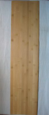 "Lot (4) Bamboo Veneer 1/40"" Thick x 10-3/4"" Wide 44"" Long Thin Skateboard Skins"