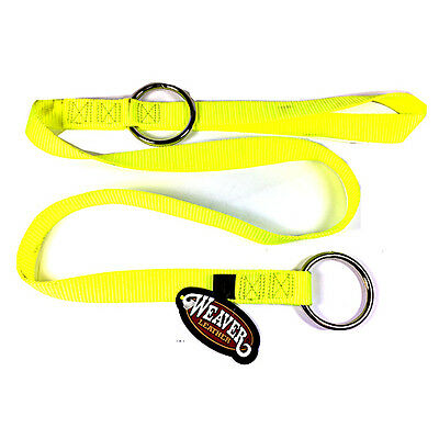 "Weaver Chain Saw Strap 49"" with two Rings Yellow 0898220 Arborist FREE SHIPPING"