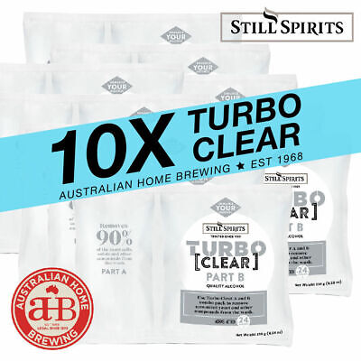 10x Still Spirits Turbo Clear BULK PACK homebrew clearing agent brewing supplies