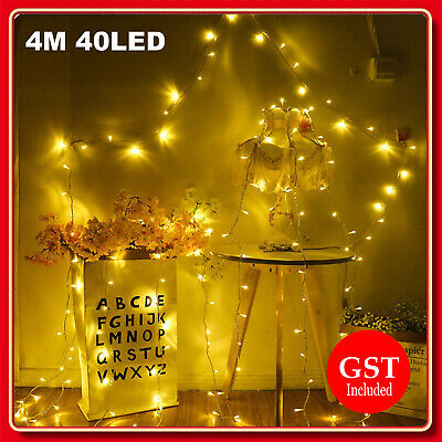 4M 40LED Battery Operated String Christmas Fairy Lights Warm White Party Wedding