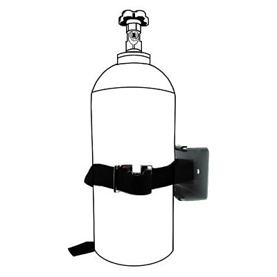 Single Gas Cylinder Safety Wall Bracket - Kegerator Air Tank CO2 Holder Strap