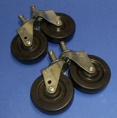 "Caster Wheel On Swivel 3"" Lot Of 4"