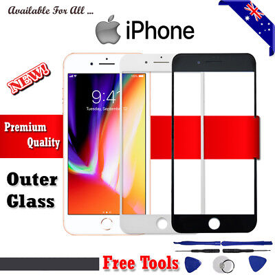 Outer Front Glass Screen Replacement for Apple iPhone 4 4S 5 5S 6 6S 6+ 7 7Plus