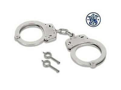 Smith & Wesson Model 100 Silver Nickel Police Security Guard Pro Handcuffs NEW