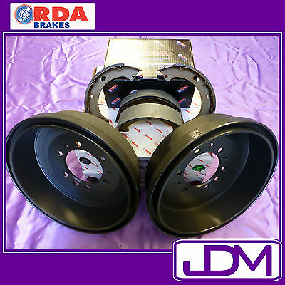 RDA Rear Brake Drums & Shoes MITSUBISHI TRITON MK 2WD 10/1996-9/2005
