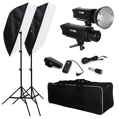 New 1200W Photography Studio Flash Strobe Soft Box Light Lighting Stand Kit AU