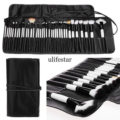 Pro 36 PCS Makeup Brush Brushes Kit Cosmetic Set Wood + Pouch Bag Case