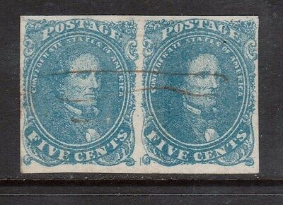 USA Confederate States #4 VF Used Rare Pair