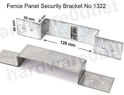Fence Panel Security Bracket No 1322  Anti Rattle Concrete or Wooden Fence Posts