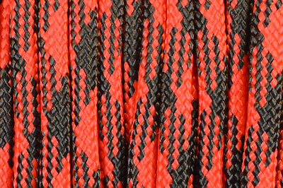 Black Widow - 550 Paracord Rope 7 strand Parachute Cord 10 25 50 100 ft