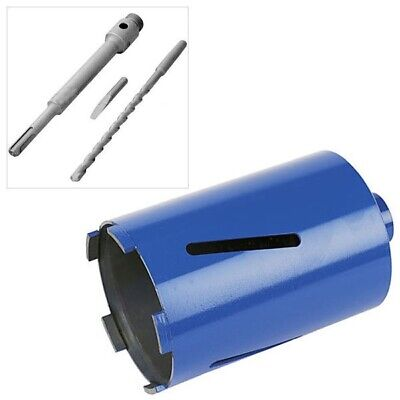 117mm x 150mm DIAMOND CORE DRILL & SDS+ ARBOR SHANK & PILOT BIT & EJECTOR DRIFT