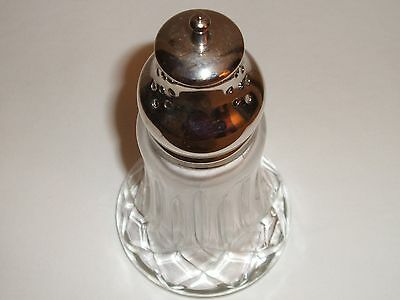 """Glass Salt Shaker with Metal Stainless Top - 6"""" Tall"""