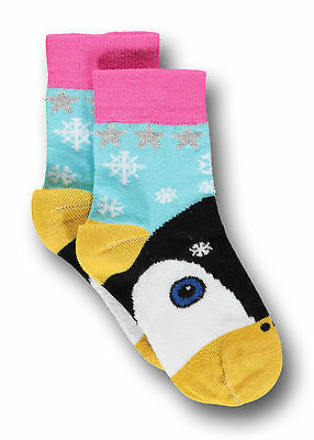 Children's Kids Penguin Short Socks - Light Blue