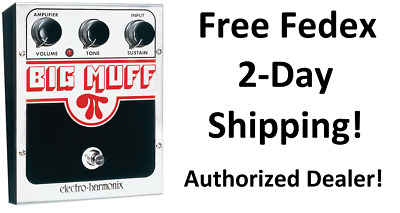 New Electro-Harmonix EHX Big Muff Pi Distortion Sustainer Effects Pedal!