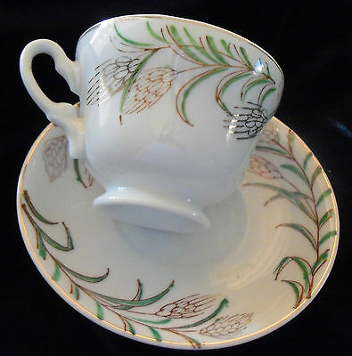 """Vintage """"WHEAT BOUGHS"""" with Gold Trim """"CUP and SAUCER"""" - Made in Japan"""