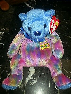 Ty Beanie Baby Birthstone Bears - September - Sapphire.  Excellent Condition