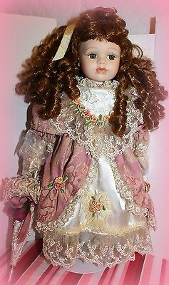 "*NWT* SEYMOUR MANN DOLL 17"" ALLIE VICTORIAN DOLL WITH PARASOL RETIRED"