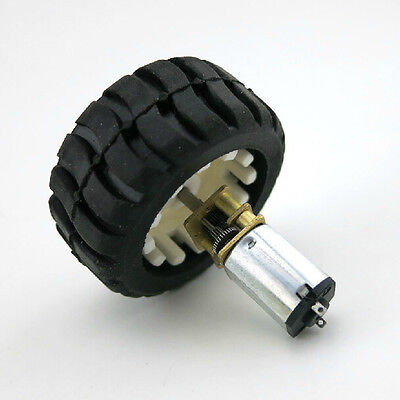 1xN20 Micro Gear Motor with Rubber Wheels 6V For Robot Smart Car worth etuk