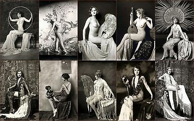 SET OF TEN SIZE 7x5'' Vintage Victorian French Risque Reproduction Photos #3