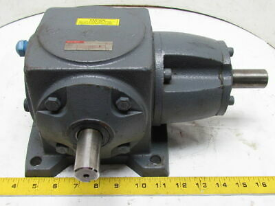 Boston Right Angle Spiral Bevel speed Reducer Gear Box 1:1 Ratio 26Hp M1 Mount