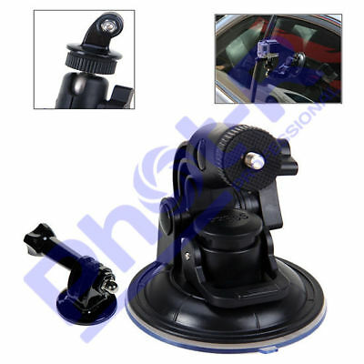 "1/4"" Car Windscreen Window Suction Cup Mount Holder Stand for GoPro Hero 3+ 4 5"