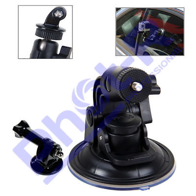 "1/4"" Car Windscreen Window Suction Cup Mount Holder Stand for GoPro Hero HD 3+ 4"