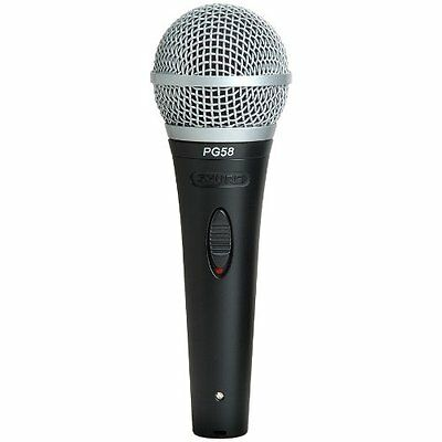 New Shure Pg58-Xlr Cardioid Dynamic Vocal Microphone W/ -To- Cable Gift