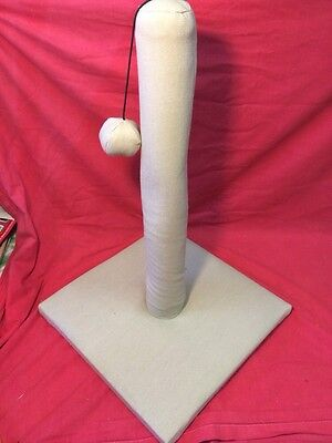 Cat Kitten scratching Flexiable Post 18 Inches Tall Filled With Organic Catnip